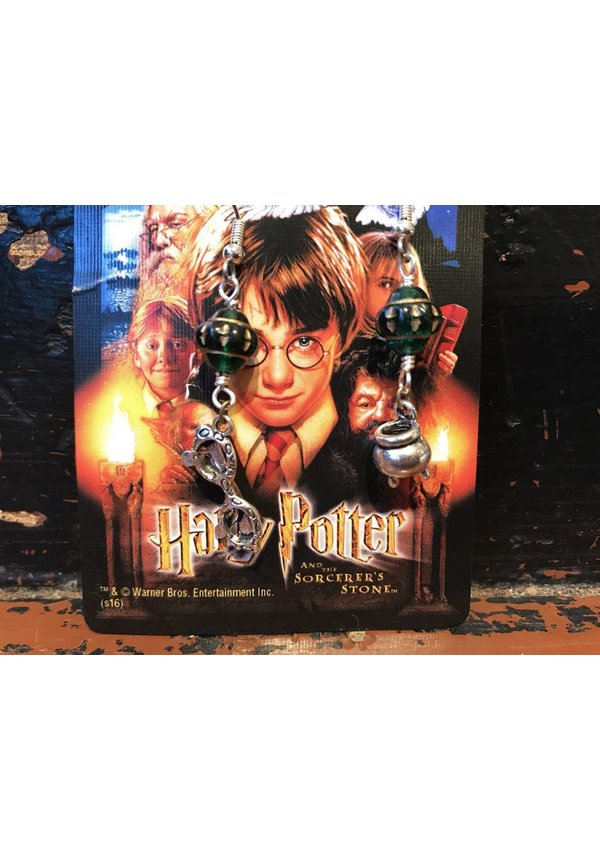 """Mischeif & Magic"" Cauldren/Glasses Earrings"