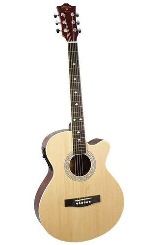 Indiana Madison Acoustic/Electric Natural Guitar