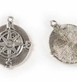 1 PC ASP 31x25mm Compass Pendant