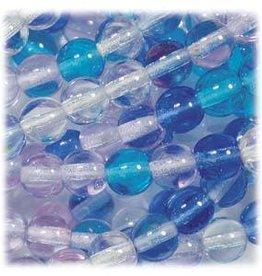 100 PC 4mm Round : Caribbean Blue