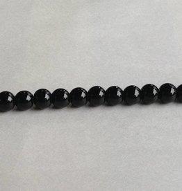 """Black Onyx : 8mm Round 15.5"""" Strand"""