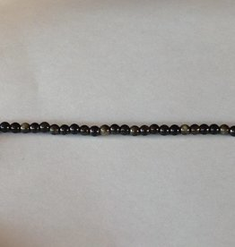 "Golden Obsidian : 4mm Round 15.5"" Strand"