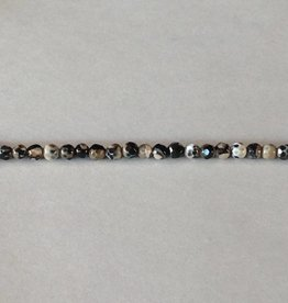 """Agate : 4mm Faceted Round 15.5"""" Strand"""