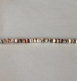"Tibetan Agate : 4mm Faceted Round 15.5"" Strand"