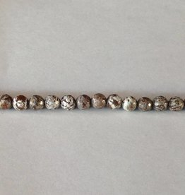 """Brown Snowflake Obsidian : 6mm Faceted Round 15.5"""" Strand"""