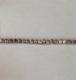 "Brown Snowflake Obsidian : 4mm Round 15.5"" Strand"