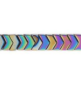 """Rainbow Hematite : Chevron 16"""" Strand"""