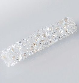 Swarovski 5951 Fine Rocks 30mm Tube Bead : Crystal Moonlight