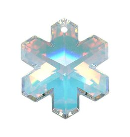 Swarovski 6704 Snowflake Pendant 20mm : Crystal AB
