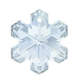 Swarovski 6704 Snowflake Pendant 20mm : Blue Shade