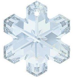 Swarovski 6704 Snowflake Pendant 25mm : Blue Shade