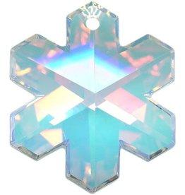 Swarovski 6704 Snowflake Pendant 25mm : Crystal AB