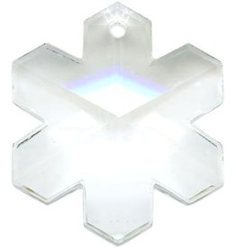 Swarovski 6704 Snowflake Pendant 25mm : Crystal