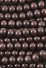 """6mm Round Chocolate Wood Bead 16"""" Strand"""