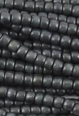 "4x5mm Tube Charcoal Wood Bead 16"" Strand"