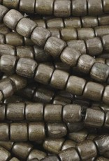 "6mm Tube Greywood Wood Bead 16"" Strand"
