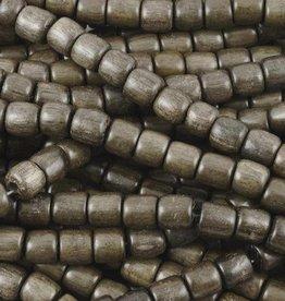 "6mm Tube Greywood Wood Bead 16"" Strand"