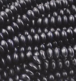 "8x5mm Saucer Black Bead 16"" Strand"