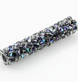Swarovski 5951 Fine Rocks 30mm Tube Bead : Crystal Paradise Shine