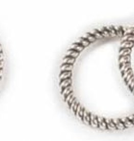 25 PC ASP 8mm Twisted Solid Ring