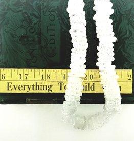 "Quartz Crystal (Crackle) : 18x5mm Stick 15.5"" Strand"