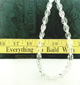 """Quartz Crystal AAA Grade : 8x12mm Faceted Nugget 15.5"""" Strand"""