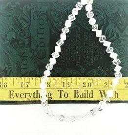 """Quartz Crystal AAA Grade : 8mm Diagonal Cube 15.5"""" Strand"""