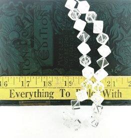 """Quartz Crystal AAA Grade : 14mm Diagonal Cube 15.5"""" Strand"""
