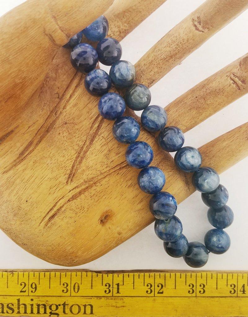 """Kyanite : 15mm Round 15.5"""" Strand"""