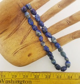 "Lapis Lazuli : 12x14mm Faceted Nugget 15.5"" Strand"
