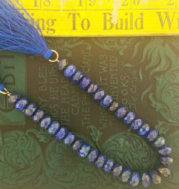 "Lapis Lazuli : 5x8mm Faceted Rondell 7.5"" Strand"