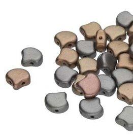 10 GM 7.5x7.5mm 2 Hole Ginko : Crystal Grey Rainbow (APX 40 PCS)