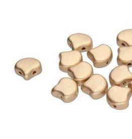 10 GM 7.5x7.5mm 2 Hole Ginko : Bronze Pale Gold (APX 40 PCS)