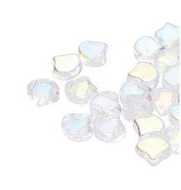 10 GM 7.5x7.5mm 2 Hole Ginko : Crystal AB (APX 40 PCS)