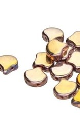 10 GM 7.5x7.5mm 2 Hole Ginko : Full Capri (APX 40 PCS)