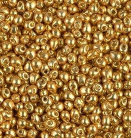 10 GM 2.8mm Miyuki Drop : Duracoat Galvanized Gold (APX 310 PCS)