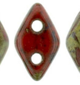 5 GM 4x6.5mm CzechMates Diamond : Opaque Red - Picasso (APX 60 PCS)