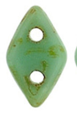 5 GM 4x6.5mm CzechMates Diamond : Opaque Turquoise - Picasso (APX 60 PCS)