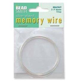 """12 Loop 2.25"""" Bracelet Memory Wire : Silver Plate"""