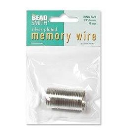 "48 Loop 3/4"" Ring Memory Wire : Silver Plate"