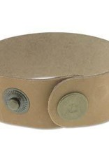 """9""""x1"""" Leather Cuff with Snaps : Natural"""