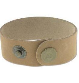 "9""x1"" Leather Cuff with Snaps : Natural"