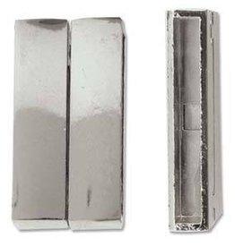 DISC 1 PC 37x19mm SP Braz Bracelet Magnetic Clasp