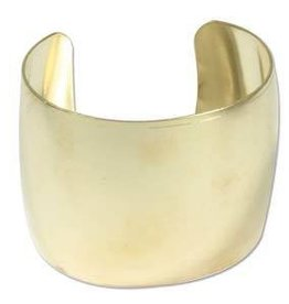 "2"" Raw Brass Domed Bracelet Cuff"