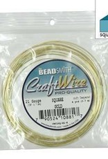 4 YD 21GA Square Craft Wire : Gold
