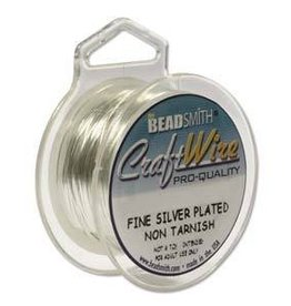10 YD 24GA Non Tarnish Craft Wire : Silver