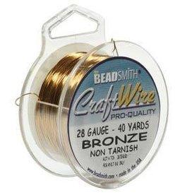 40 YD 28GA Craft Wire : Bronze