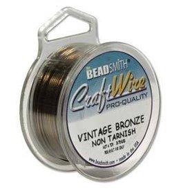 40 YD 28GA Craft Wire : Vintage Bronze