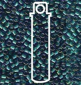 7.2 GM DB1764 11/0 Delica : Emerald Lined Aqua Aurora Borealis (APX 1400 PCS)