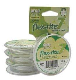 """30 FT .020"""" Flex-Rite 7 Strand : Pearl Silver"""